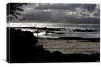 Sunset Surf, Canvas Print