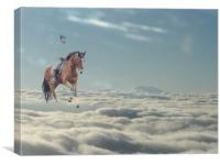 Floating on a cloud, Canvas Print