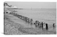 Selsey in Mono, Canvas Print