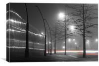 Sheffield misty day, Canvas Print