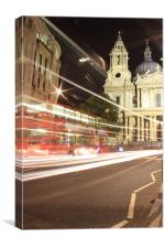 London bus at St Pauls, Canvas Print