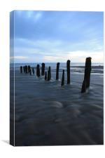 Whitby Sandsend early sunrise, Canvas Print