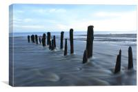Whitby Sandsend beach, Canvas Print