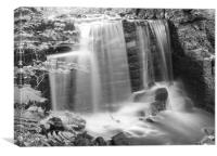 Black and White Waterfall, Canvas Print