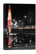 Sheffield Railway Station Light with traffic, Canvas Print