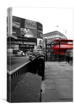 Red Bus London, Canvas Print