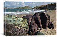 Porthsele Beach 2, Canvas Print