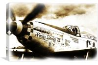 Advanced Sepia classic P51D looking image, Canvas Print