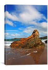 Pembrokeshire Rock, Canvas Print