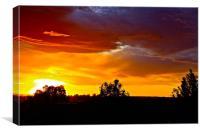 Oregon Sunset, Canvas Print