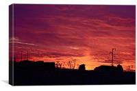 Evening Silhouettes, Canvas Print