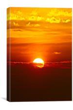 Glowing Sunset, Canvas Print