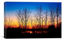 Sunset in Eastern Oregon., Canvas Print