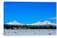 The Three Sisters Mountains, Canvas Print