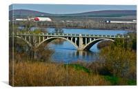 Bridge To Umatilla, Canvas Print