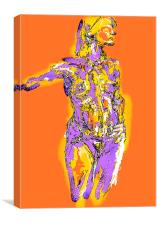 Holly -  Life drawing  in Orange Series, Canvas Print