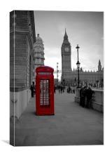 London Telephone box, Canvas Print