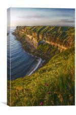 Filey cliffs at dawn, Canvas Print