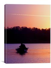 Fishing at dusk, Canvas Print