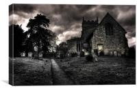 St Bartholomews Church Ingoldsby, Canvas Print