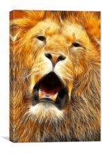 The Lions roar, Canvas Print