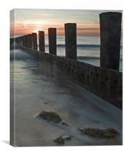 Skegness at dawn, Canvas Print