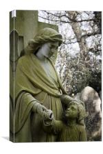 Angel and Child Headstone, Canvas Print