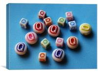 Q beads, Canvas Print