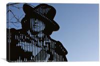Oscar Wilde memorial gate, Canvas Print