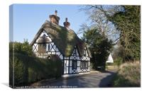 English Thatched Cottage, Canvas Print