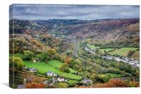 Clydach, Monmouthshire, Wales, Canvas Print