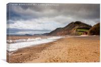 Branscombe Beach, Devon, Canvas Print