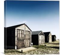 Winterton Beach Huts, Canvas Print