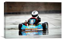 Go-Karting, Canvas Print