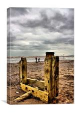 Bracing Stroll On The Beach, Canvas Print