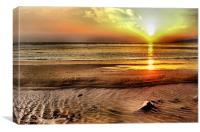 Aberafan Sunset, Canvas Print