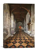 Cathedral Corridor, Canvas Print
