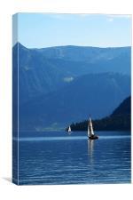 Austrian Lake, Canvas Print