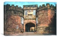 Castle Gate House, Canvas Print