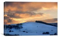 Evening over Pencastel, Canvas Print