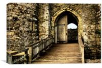 Kidwelly Castle Gatehouse, Canvas Print