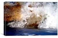 Coloured wave, Canvas Print