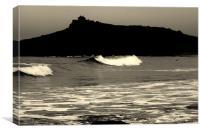 Big waves, Canvas Print