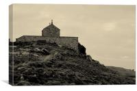 Church on the hill, Canvas Print