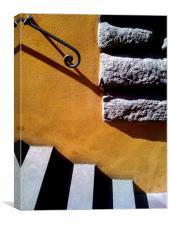Italian steps, Canvas Print