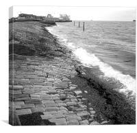 Sea defences, Canvas Print