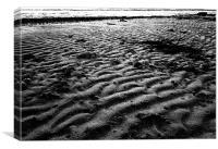 Rippled sand, Canvas Print