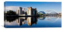 Sunday Morning - Newcastle Riverside, Canvas Print