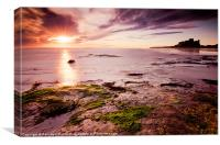Bamburgh castle and Sunrise, Canvas Print