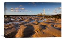 St Mary's Lighthouse low POV, Canvas Print